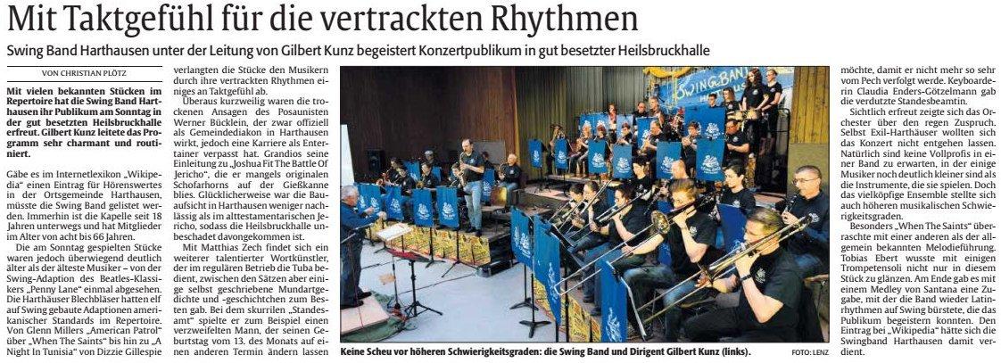 Rheinpfalz zum Konzert 2016