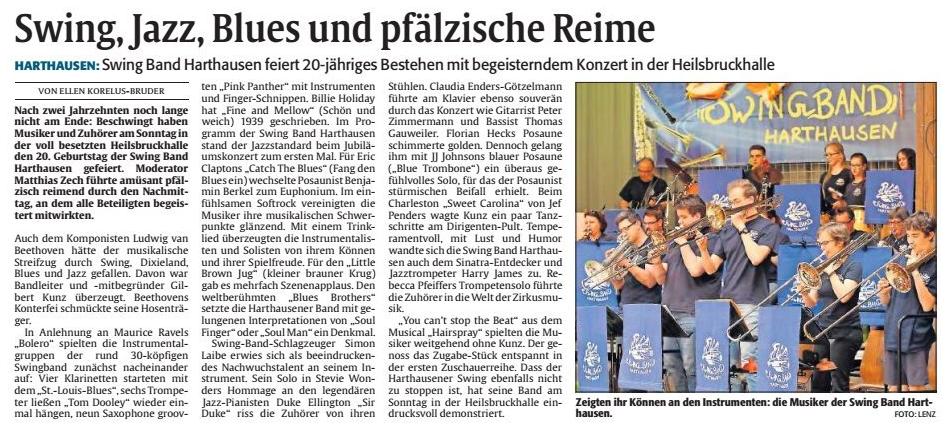 Rheinpfalz-Artikel zum Konzert 2018